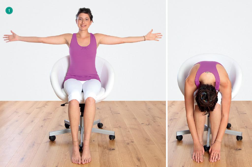 Yogaübungen für den Atem – Sitzhaltung auf dem Stuhl