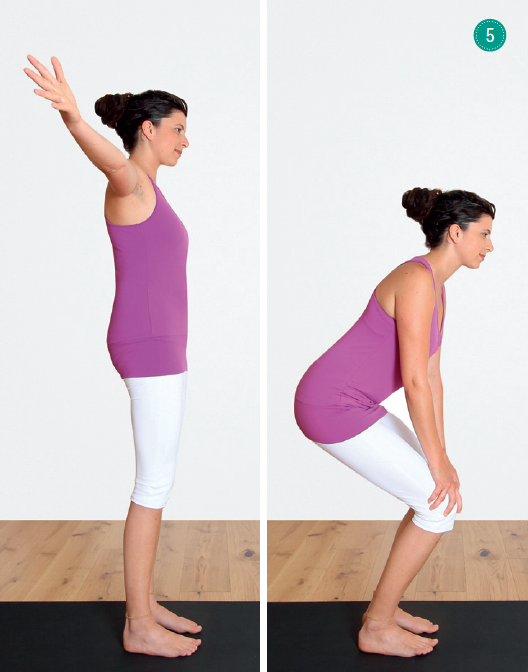Yoga Atemübungen – Palmenthaltung, halber Stuhl