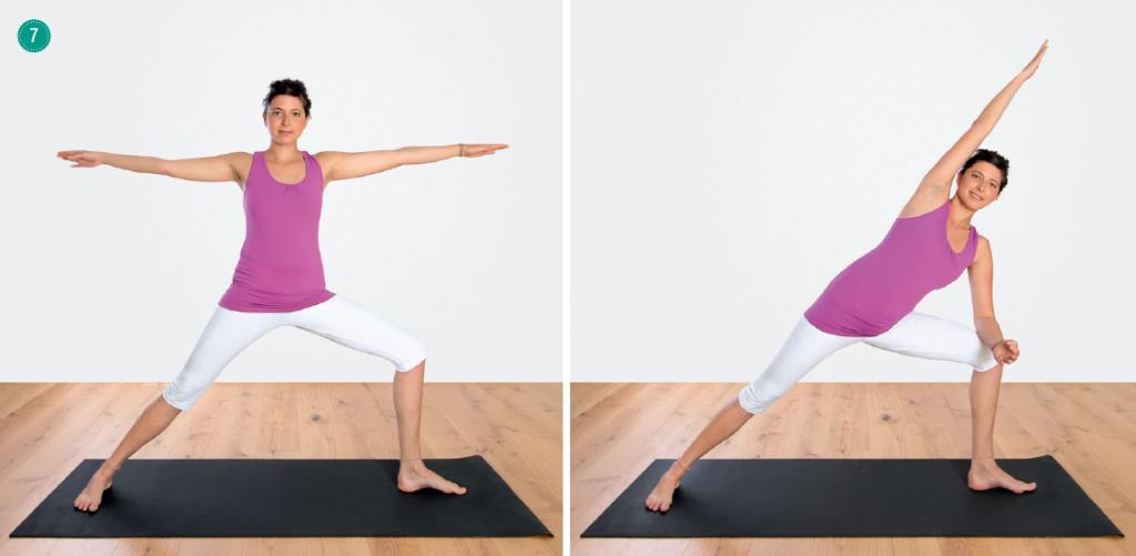 Yoga Atemübungen – Variante von Trikonasana