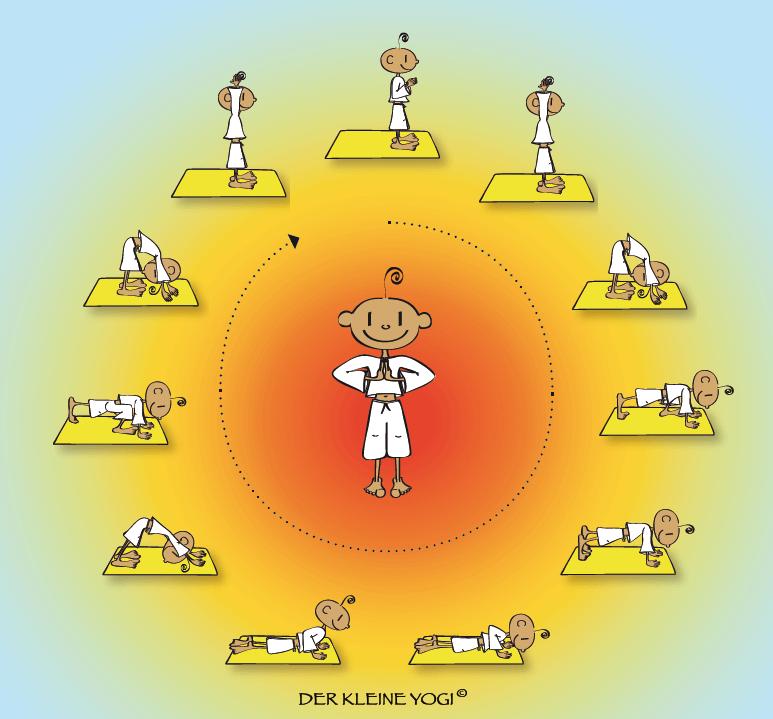 Der Sonnengruß mit dem kleinen Yogi
