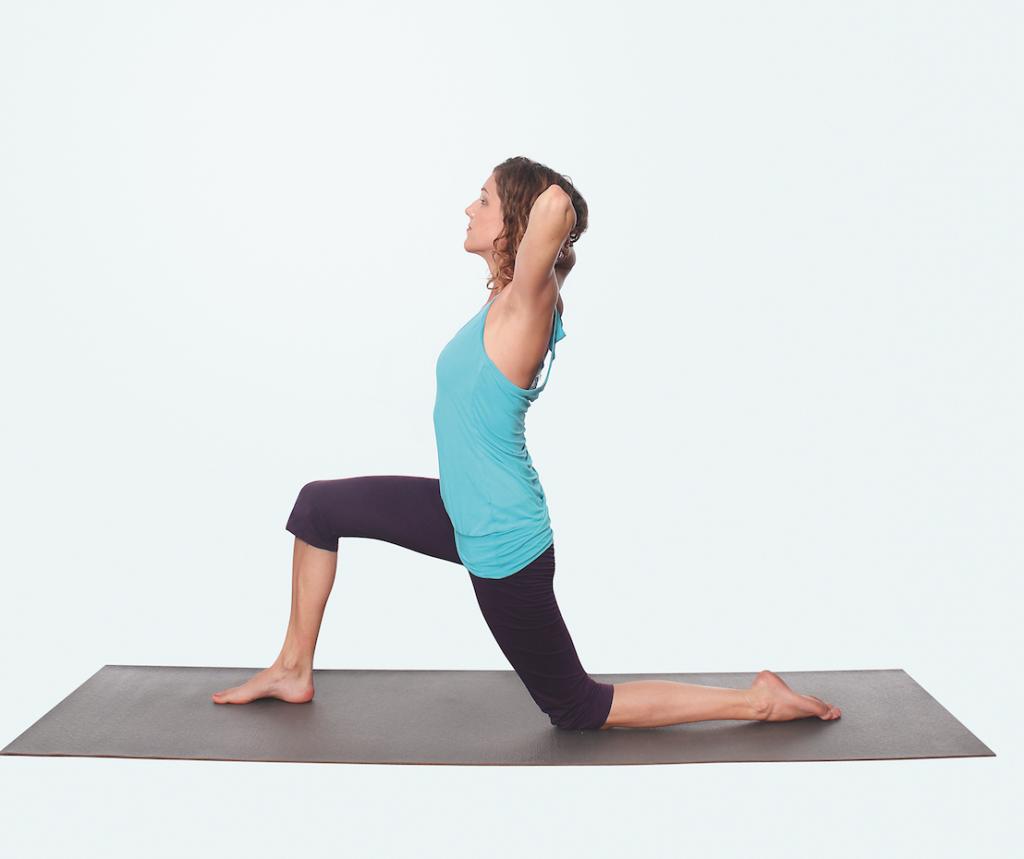 Yoga Praxis für Nacken und Schultern – Yogaübung Kamel Variante 2