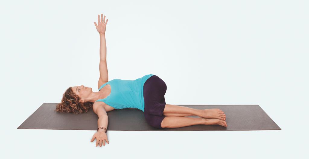 Yogapraxis für Nacken und Schultern – Yogaübung Drehung am Boden