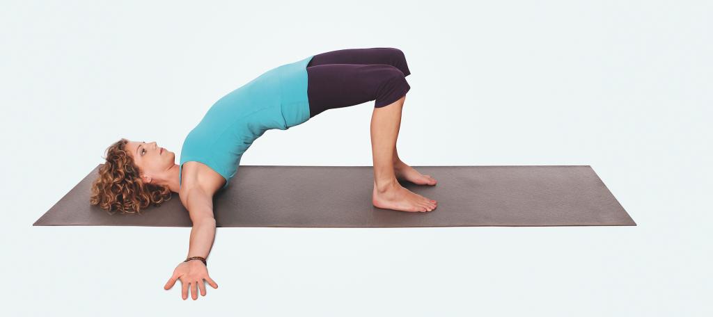 Yogaübungen für Nacken und Schultern – Yoga Schulterbrücke