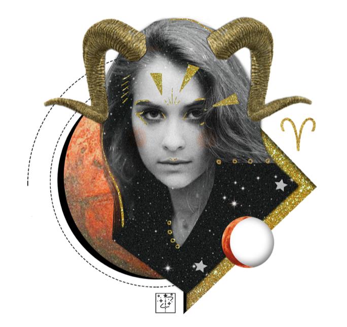 Das Mantra für WIDDER Collage von Ellen Holzschuster
