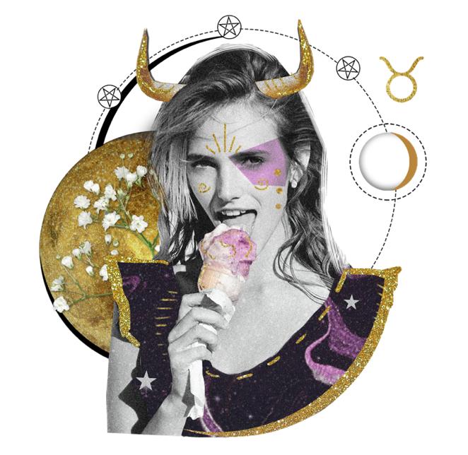 Das Mantra für STIER Collage von Ellen Holzschuster