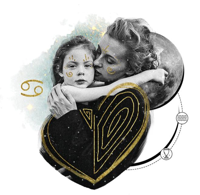 Das Mantra für KREBS Collage von Ellen Holzschuster