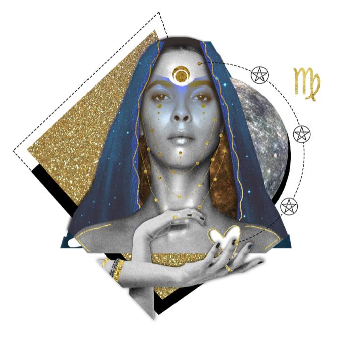 Das Mantra für JUNGFRAU Collage von Ellen Holzschuster