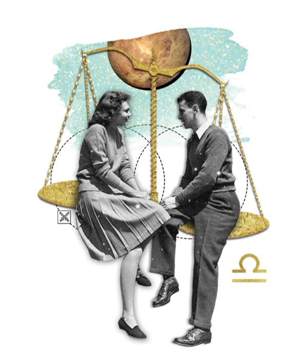 Das Mantra für WAAGE Collage von Ellen Holzschuster
