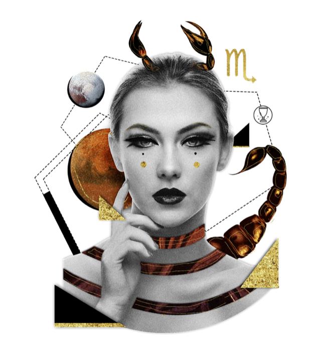 Das Mantra für SKORPION Collage von Ellen Holzschuster