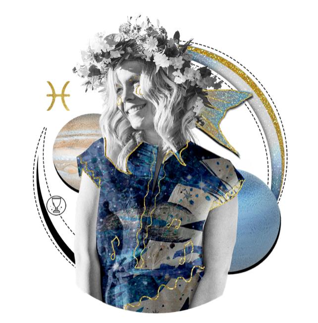 Das Mantra für FISCHE Collage von Ellen Holzschuster